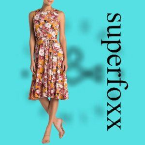 SUPERFOXX Floral Fit and Flare Sleeveless Dress S